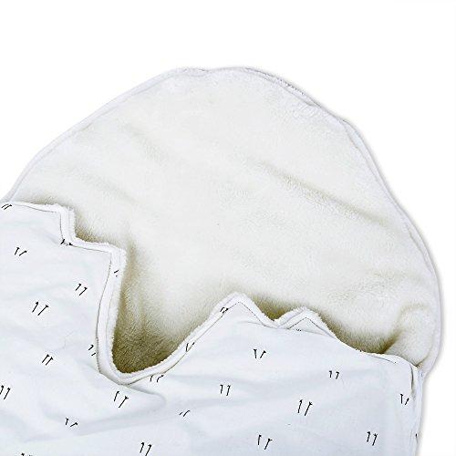 Baby Haarverdichtung Schlafsack bequem mit Kapuze Wickeldecke Wrap