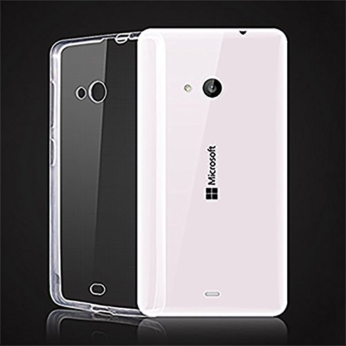 Sketchfab Ultra Thin Transparent Clear TPU Soft Silicone Back Case Cover For Microsoft Lumia 535