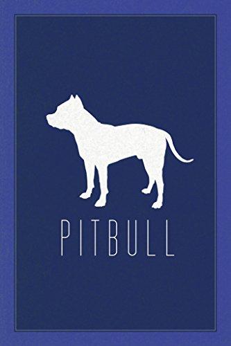 Hunde Pit Bull blau Poster 30x 46cm (Bully Bull Pit)