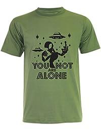 PALLAS Unisex's Alien UFO You Not Alone T-Shirt