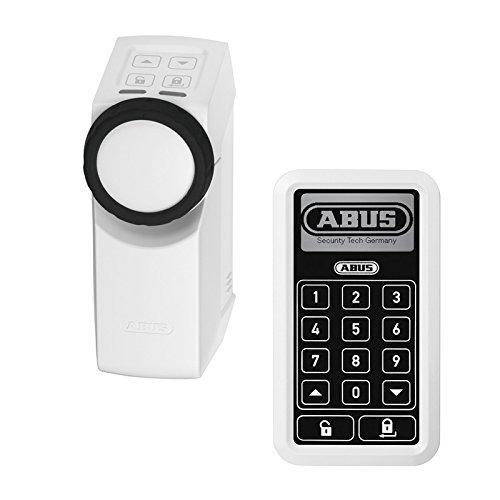 ABUS HomeTec Pro Funk-Türschlossantrieb mit Home Tec Funk-Tastatur in silber oder weiß