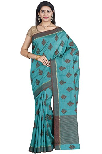 The Chennai Silks - Tussar Silk Saree - Vivid Green - (CCMYFA644)