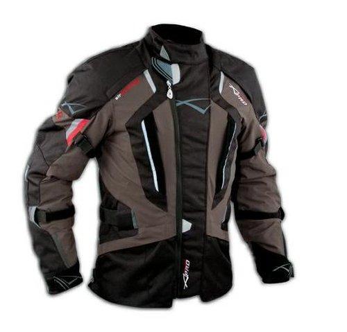 Giacca Touring Moto Cordura Protezioni CE Sfoderabile Impermeabile Marrone S