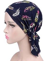 Eg /_ Damen Blumenmuster Chemo Mütze Turban Stretch Stirnband Krebs Hut Rapt