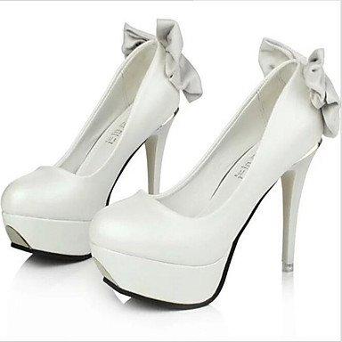 Moda Donna Sandali sexy donne tacchi tacchi in similpelle / Matrimoni Party & sera abito / Stiletto Heel BowknotBlack / Rosso / White