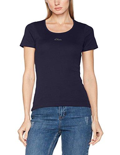 s.Oliver Damen T-Shirt 4899324306, Blau (Navy 5959), 40 (Blaue Logo-shirt)