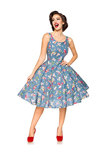 Belsira Damen Vintage-Kleid im Retro Look