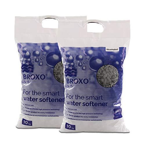 Wasserenthärtung, Salz (BROXO 20kg 2 x 10kg Regeneriersalz Poolsalz Schwimmbadsalz 6-15 z.B Chlorinator (20) )