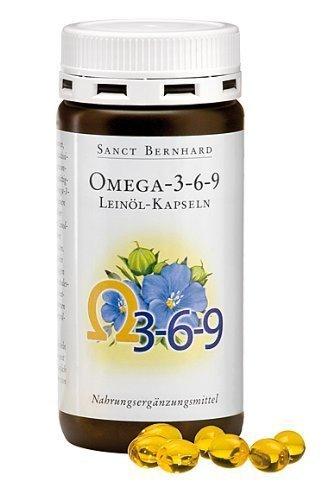 Sanct Bernhard Omega-3-6-9 Leinöl-180 Kapseln, 1er Pack (1 x 119 g)