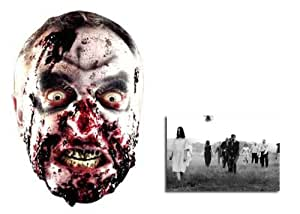 Zombie Halloween Face Mask includes 6x4 inch (15cm x 10cm) Star Photo