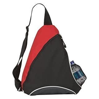 eBuyGB Monostrap Triangle Rucksack School and College Bag, Red