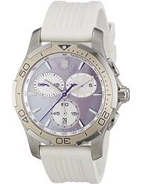 Victorinox Swiss Army - Reloj cronógrafo de cuarzo para mujer con correa de  caucho 9aea4eab3a53