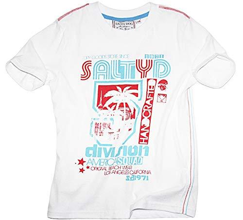 Salty Dog T-Shirt Handcrafted (128, Weiß)