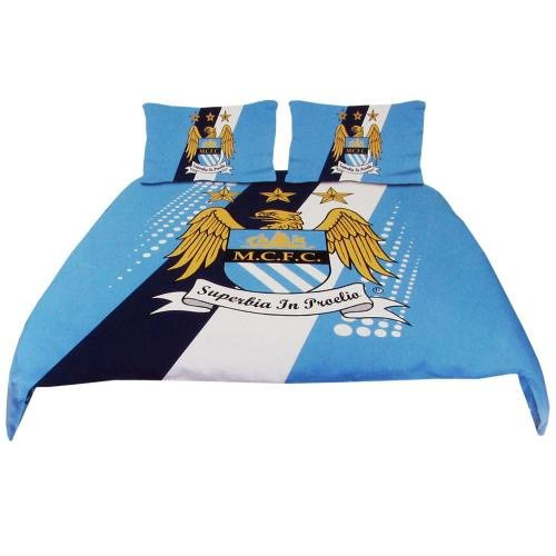 Manchester City FC Official Football Gift Double Duvet Set – A Great Christmas / Birthday Gift Idea For Men And Boys