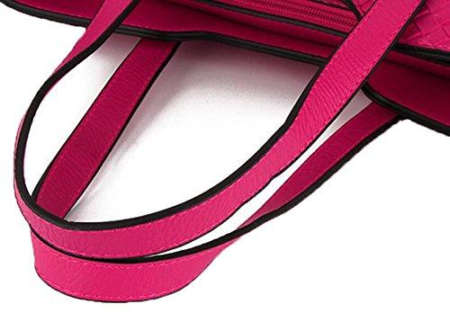Women 's Knitting Pattern Di Grandi E Medie - Sized Pacchetto Di Tre - Piece Borsa Pink