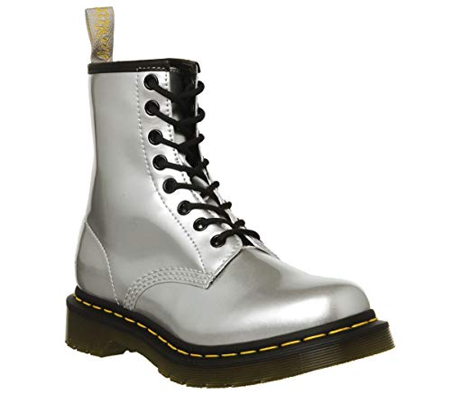Chrome 7 (Dr.Martens 1460 Vegan 24865040 Chrome Paint Metallic Synthetic Womens Boots - Silver - 7)