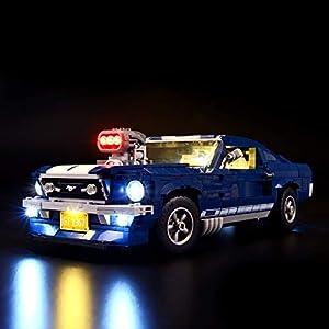 BRIKSMAX Kit di Illuminazione a LED per Ford Mustang, Compatibile con Il Modello Lego 10265 Mattoncini da Costruzioni… Kit illuminazione LEGO