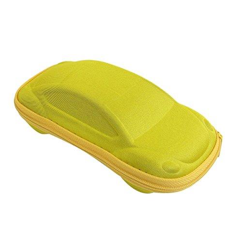 Yellow Car Shaped Reißverschluss Brillen Sonnenbrillen Fall Box