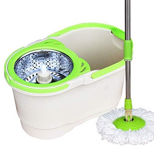 Yiiy detergente domestico per secchiello da centrifuga a 360 gradi |manico prolungato easy press in acciaio inossidabile e cestello per asciugatrice easy wring per la pulizia del pavimento della cucin
