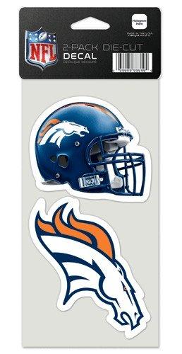 Wincraft Denver Broncos Auto-Aufkleber, 10 x 10 cm, 2 Stück