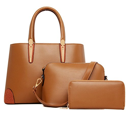 Yiyida, Borsa a mano donna blu Blue Brown