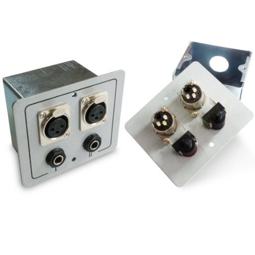 2x XLR und 6,35mm Mikrofon Auslass Wall Face Plate Stereo-wall Plate