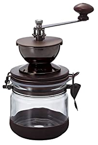 Hario Burr Hand Coffee Grinder Canister Mill, Ceramic, Brown
