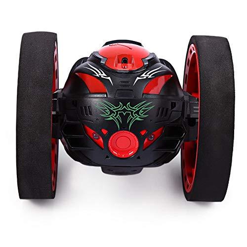 EisEyen 2.4G RC Wireless Bounce Car Toy Set mit Fernbedienung und LED-Nachtlichtern Auto Roboter Spielzeug Geburtstagsgeschenke