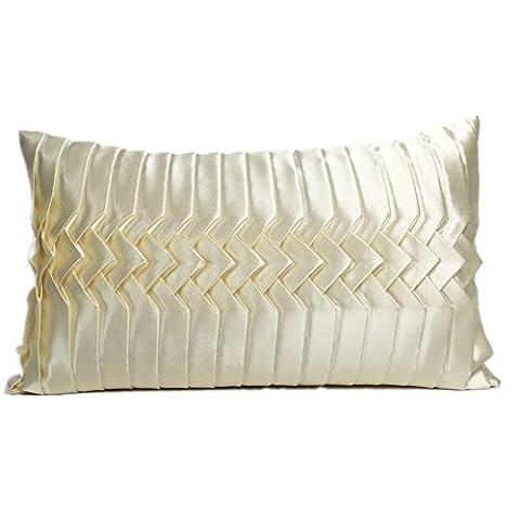 CUSHIONLIU Hand Woven Gold Ingot Pleated Color New Classic Satin Long Waist Waist Pillow 12