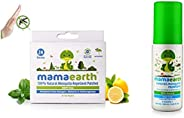 Mamaearth Natural Repellent Mosquito Patches for Babies, White, 24 Patchesand Natural Insect Repellent for Babies (100 ml)