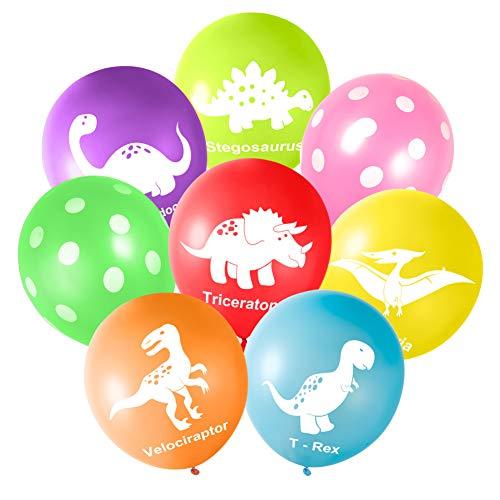 FEPITO 16PCS 12 'Dinosaurios Globos de látex para Fuentes de Dinosaurios y Decoraciones de Fiesta de Dinosaurios