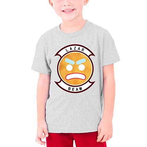 Jugend Mädchen Jungen Sommer T-Shirt Lazarbeam T Shirt Casual Shirts Für Jugendliche Mädchen Jungen Kurzhülse Kleidung Grau M -