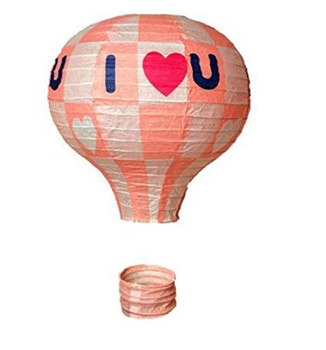 (Black Temptation Geburtstagsparty/Weihnachten/Ostern/Mall Dekoration hängen Papier Laterne Heißluftballon (Rosa))