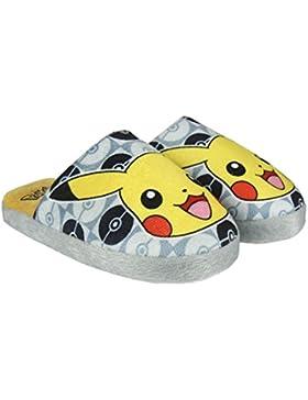 Pokémon - Zapatillas de Estar Por casa de Material Sintético para Niño Multicolor Multicolor
