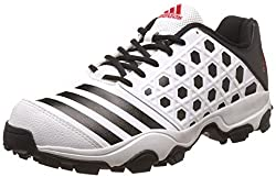 adidas Mens Sl 22 Trainer16 White, Black and Scarle Cricket Shoes - 8 UK/India (42 EU)