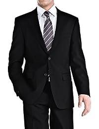 Kebello - Costume homme noir Cintré 2 Boutons - Noir