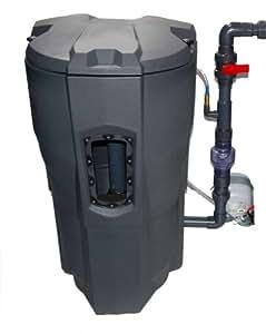 Auto mechanical biological pond filter self cleaning for Self cleaning pond filter