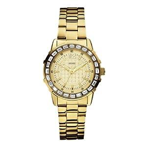 Reloj Guess W0018L2 de cuarzo para mujer con correa de acero inoxidable, color dorado de Guess