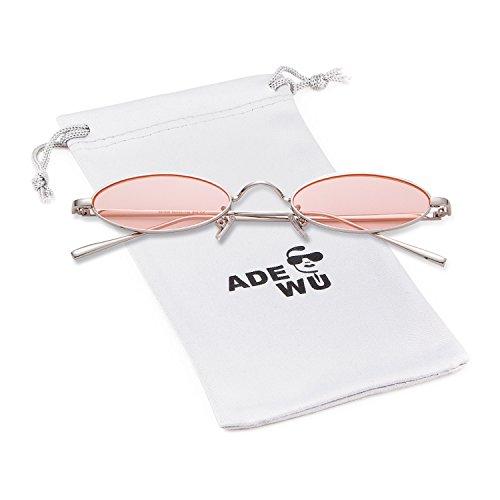 ADEWU Metall Oval & Rund Sonnenbrillen Unisex Mode Vintage Brillen Herren Damen