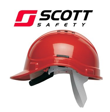 Scott Safety HC300/VR/SBT Helmet with Terry SB, Vented, Red
