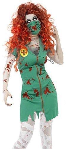 rankenschwester Paramedic NHS Halloween Fancy Kleid Kostüm Outfit 8-18 (Halloween-kostüm Scrubs)