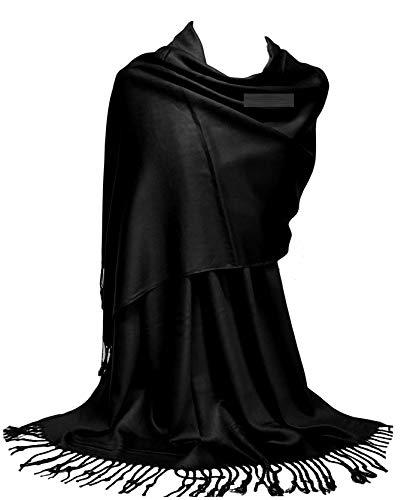 GFM Liso muy suave suave Pashmina Estilo Wrap bufanda