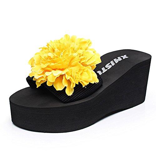 Pente avec sandales à talons hauts à bascule --- 7cm Chaussons de mode été Chaussons féminins antidérapants à talons hauts --- Herringbone fashion sweet Sandals #2