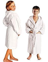 Albornoz para niño o niña - Suave de puro algodón, 430gsm (g/m2)