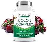 Colon Cleanse - Limpiador natural de colon - Cura de 2 meses / 120 cápsulas - Ayuda contra el estreñimiento ocasional, la limpieza interna leve y la desintoxicación del colon.