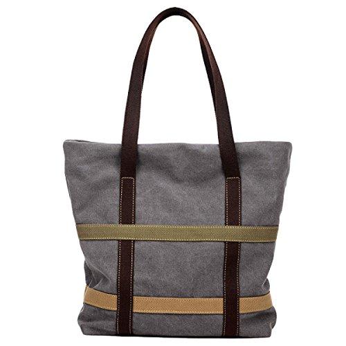 Segeltuchhandtaschen Umhängetasche Große Kapazität Große Beutelsegeltuchbeutel Grey
