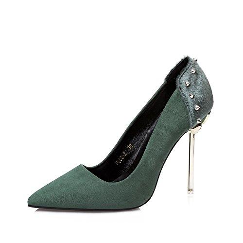 FLYRCX Onorevoli moda personalità forte tacchi alti tacchi alti sexy poco profonda di moda scarpe di partito A