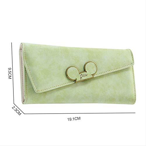 Scrub Long Wallet, Slanted Wallet 3 Damen-Portemonnaie (Wallet Satin-long)