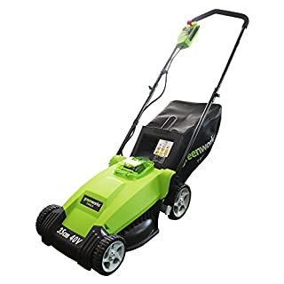 Greenworks Tools 2500067-A 40 V 35 cm Lithium Lawnmower - Green
