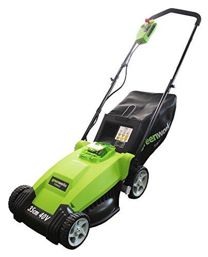 41mKa%2BvJuuL - BEST BUY LAWN MOWER# Greenworks Tools 2500067-A 40 V 35 cm Lithium Lawnmower - Green Reviews